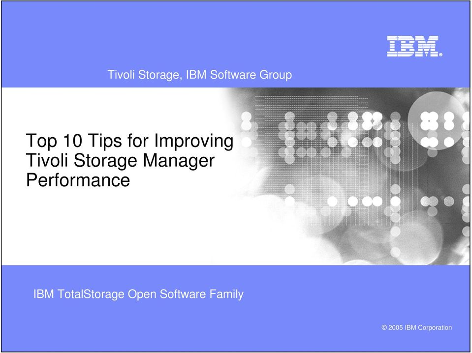 Manager Performance IBM