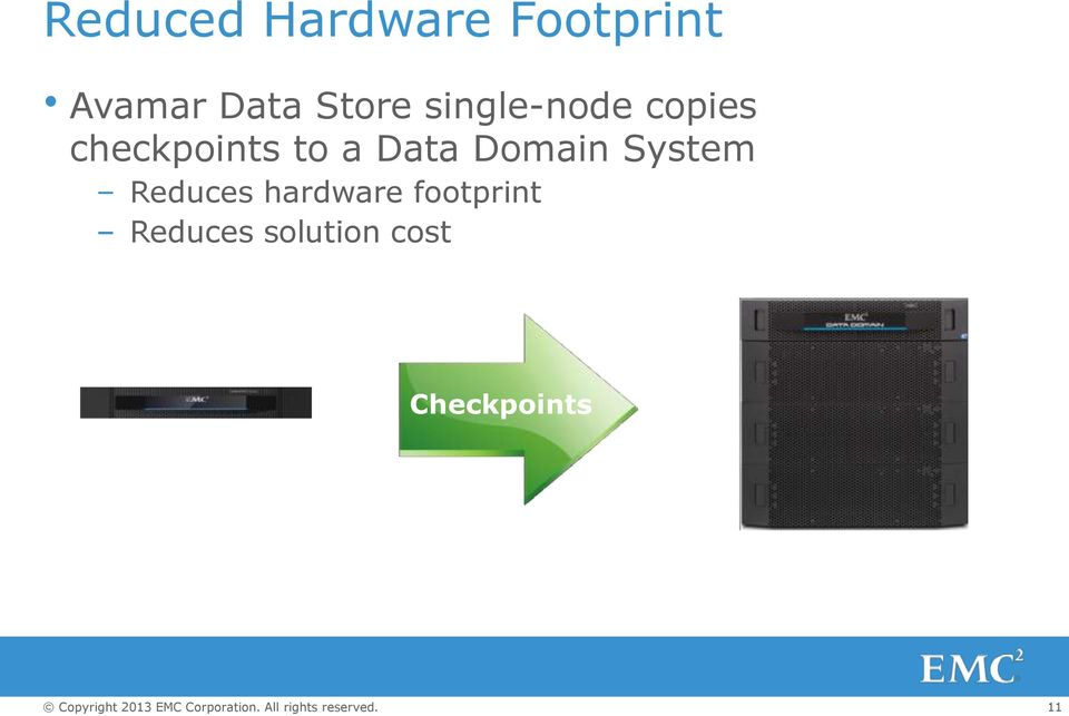 a Data Domain System Reduces hardware