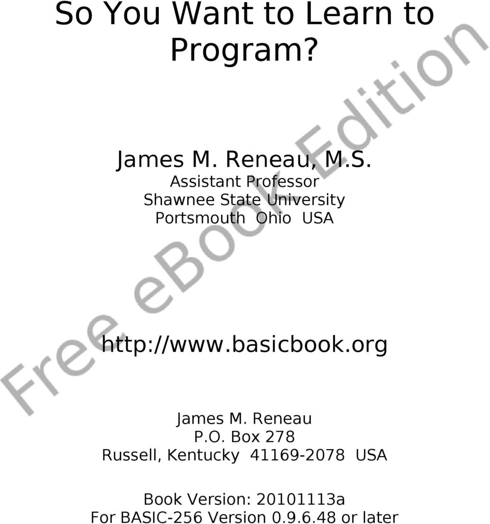 basicbook.org James M. Reneau P.O.