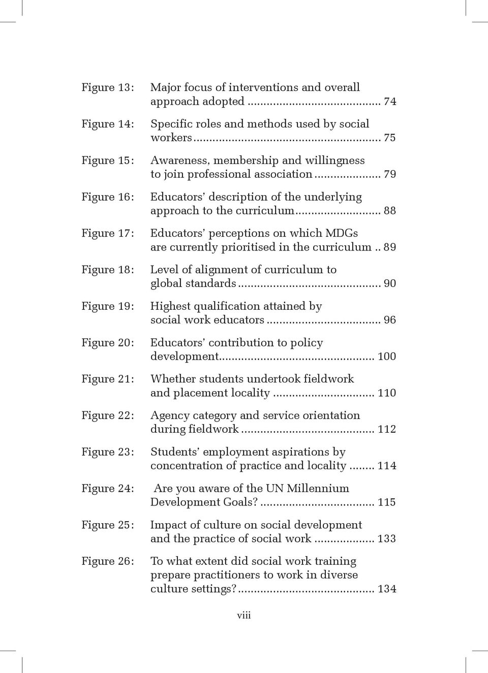 .. 88 Figure 17: Educators perceptions on which MDGs are currently prioritised in the curriculum.. 89 Figure 18: Level of alignment of curriculum to global standards.