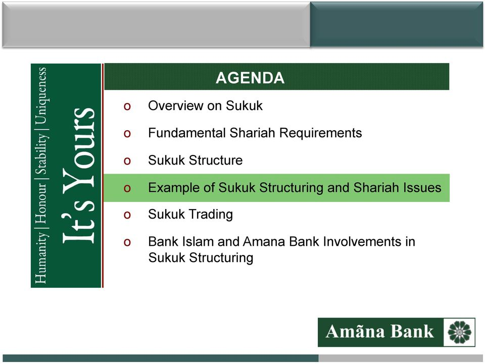 Structuring and Shariah Issues Sukuk Trading