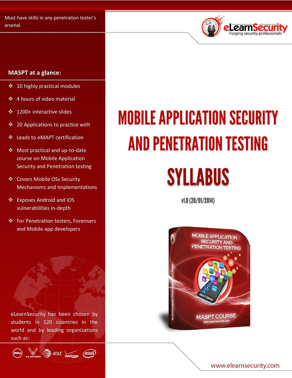 practical and up-to-date course on Mobile Application Security and Penetration testing Covers Mobile OSs Security Mechanisms and Implementations Exposes Android and