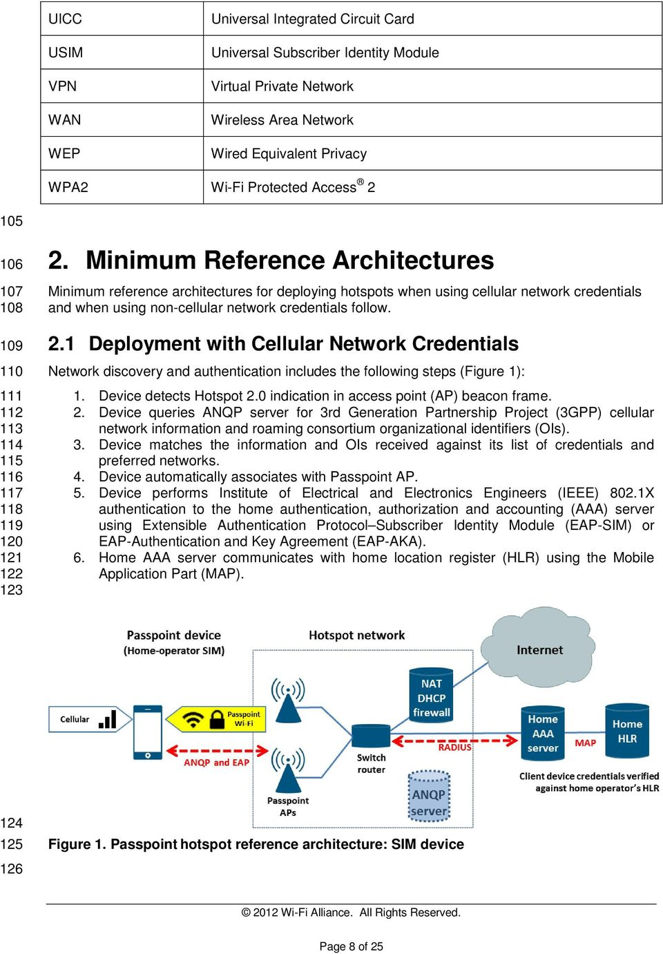 Minimum Reference Architectures Minimum reference architectures for deploying hotspots when using cellular network credentials and when using non-cellular network credentials follow. 2.