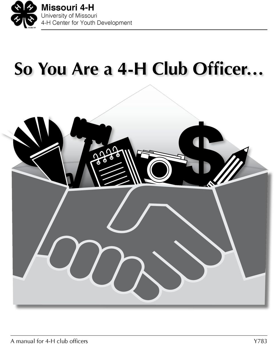 Development So You Are a 4-H Club