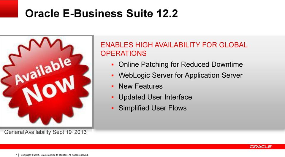 Patching for Reduced Downtime WebLogic Server for Application