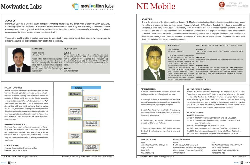 and business presence using mobile application.