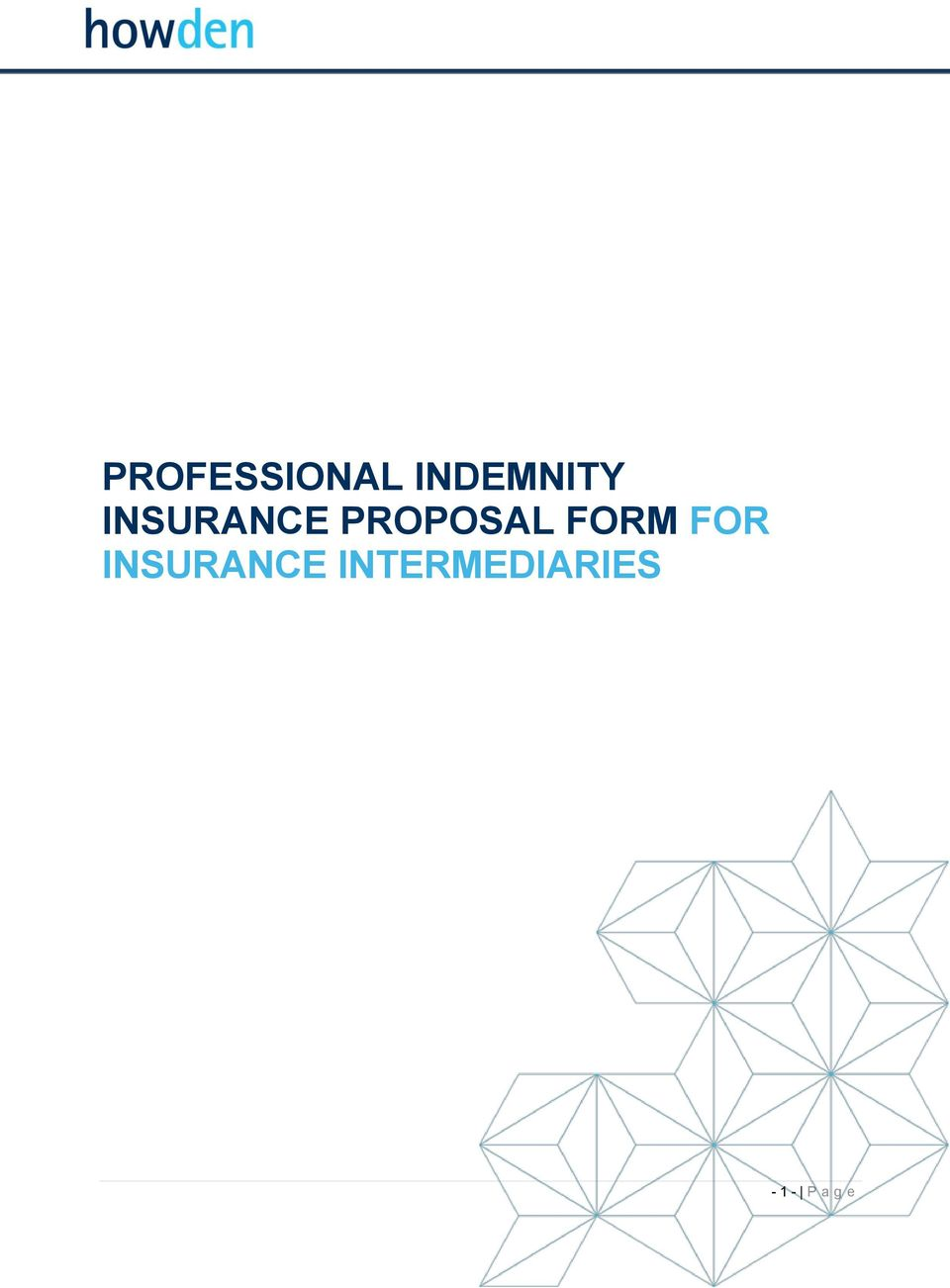 FORM FOR INSURANCE
