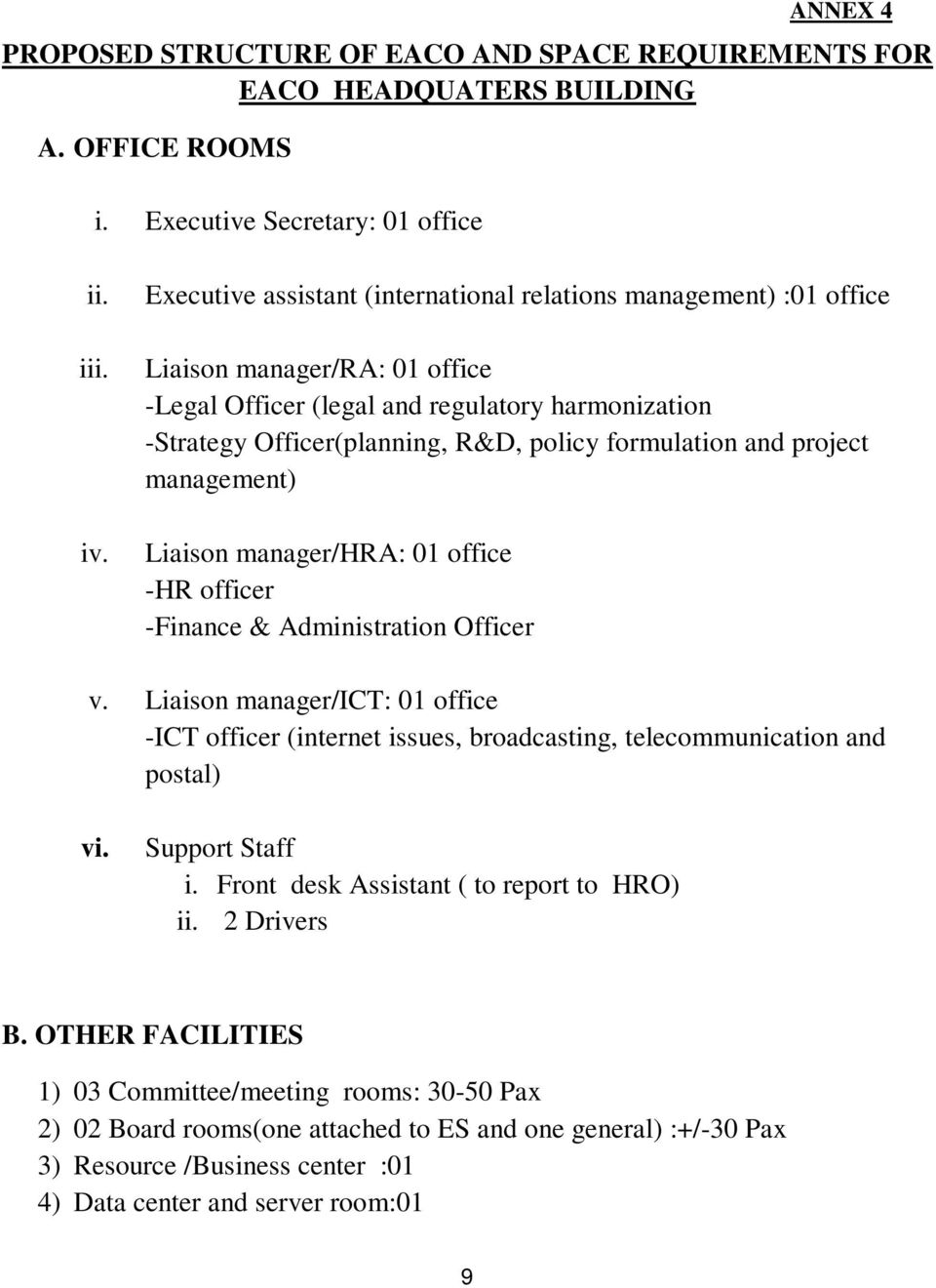 formulation and project management) Liaison manager/hra: 01 office -HR officer -Finance & Administration Officer v.