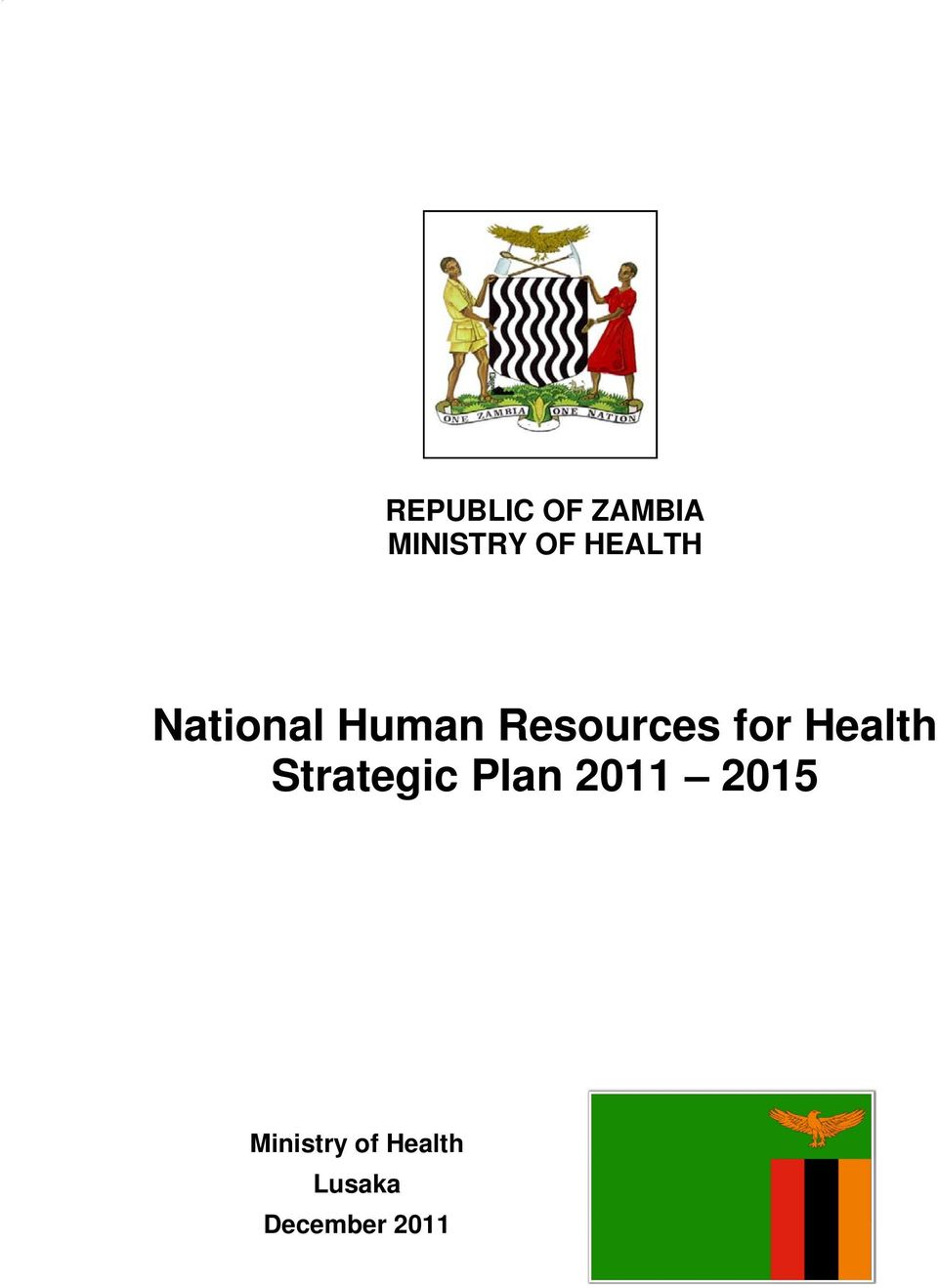 for Health Strategic Plan 2011
