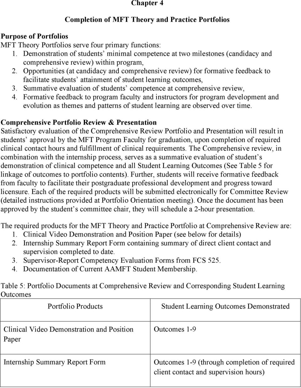 Opportunities (at candidacy and comprehensive review) for formative feedback to facilitate students attainment of student learning outcomes, 3.