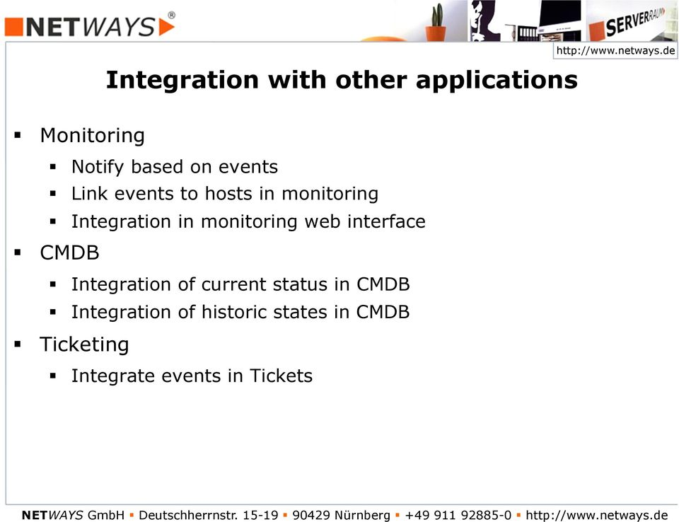 current status in Integration of historic states in Ticketing Integrate