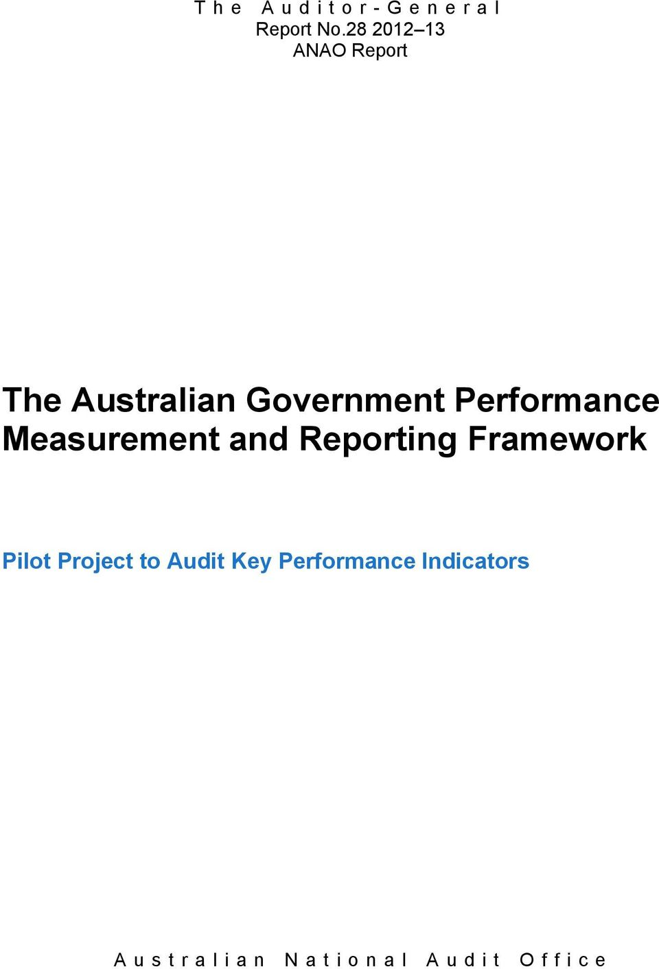 Government Performance Measurement and
