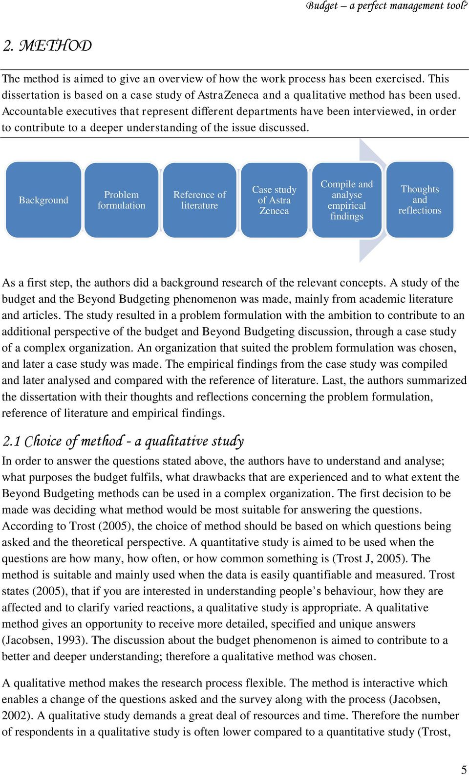 Background Problem formulation Reference of literature Case study of Astra Zeneca Compile and analyse empirical findings Thoughts and reflections As a first step, the authors did a background