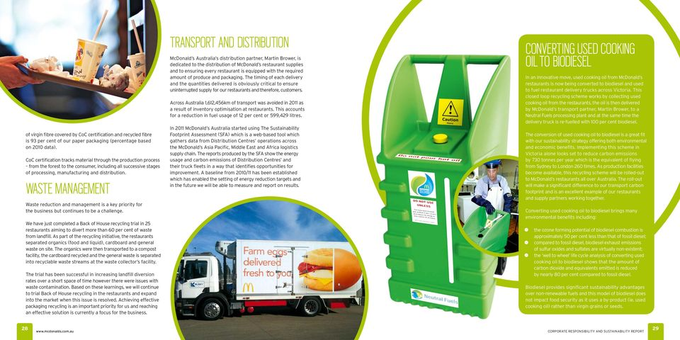 Waste Management Waste reduction and management is a key priority for the business but continues to be a challenge.