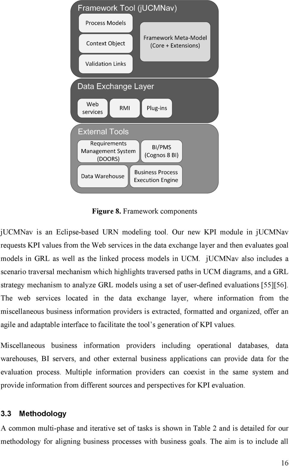 jucmnav also includes a scenario traversal mechanism which highlights traversed paths in UCM diagrams, and a GRL strategy mechanism to analyze GRL models using a set of user-defined evaluations