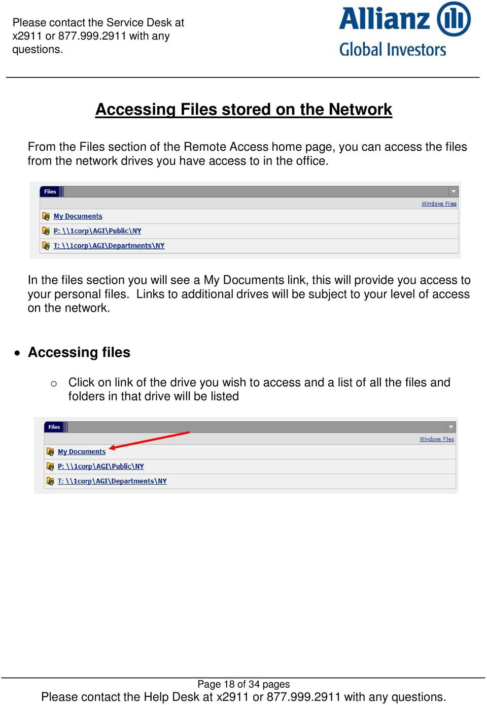 In the files section you will see a My Documents link, this will provide you access to your personal files.
