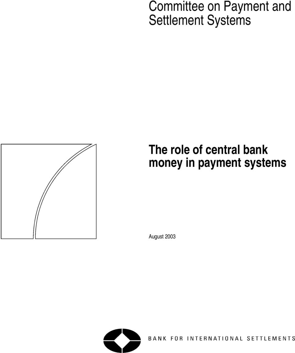 role of central bank money
