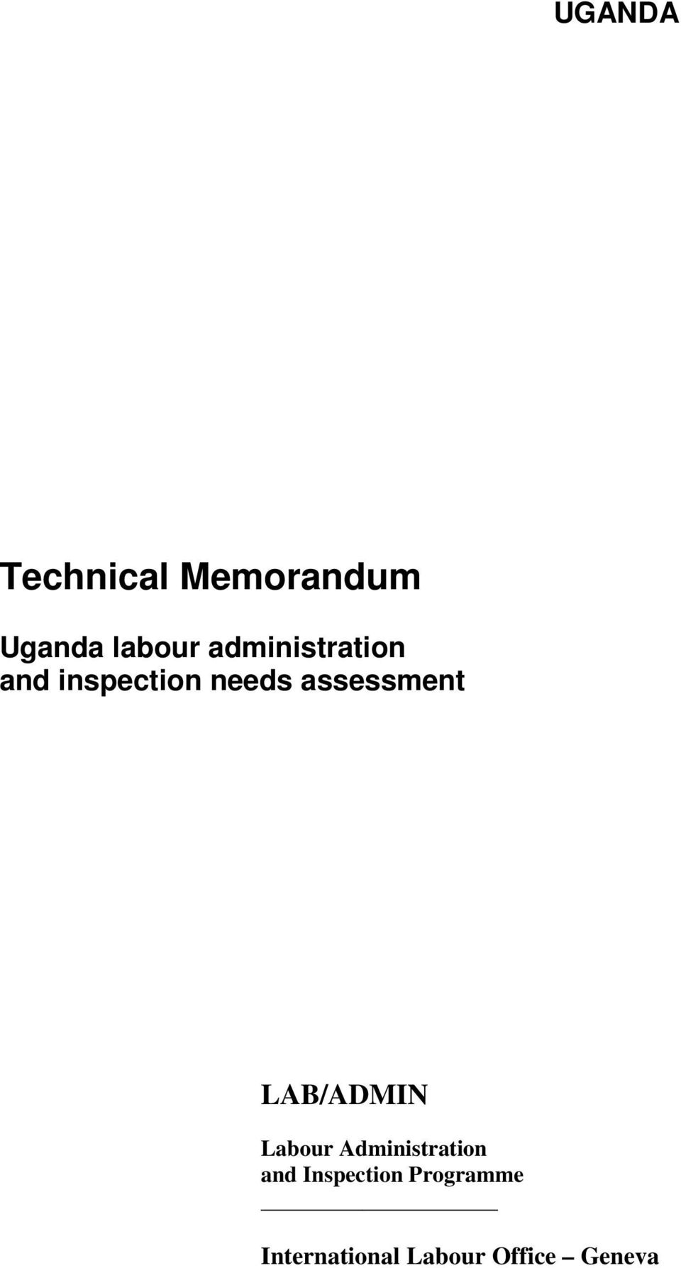 assessment LAB/ADMIN Labour Administration