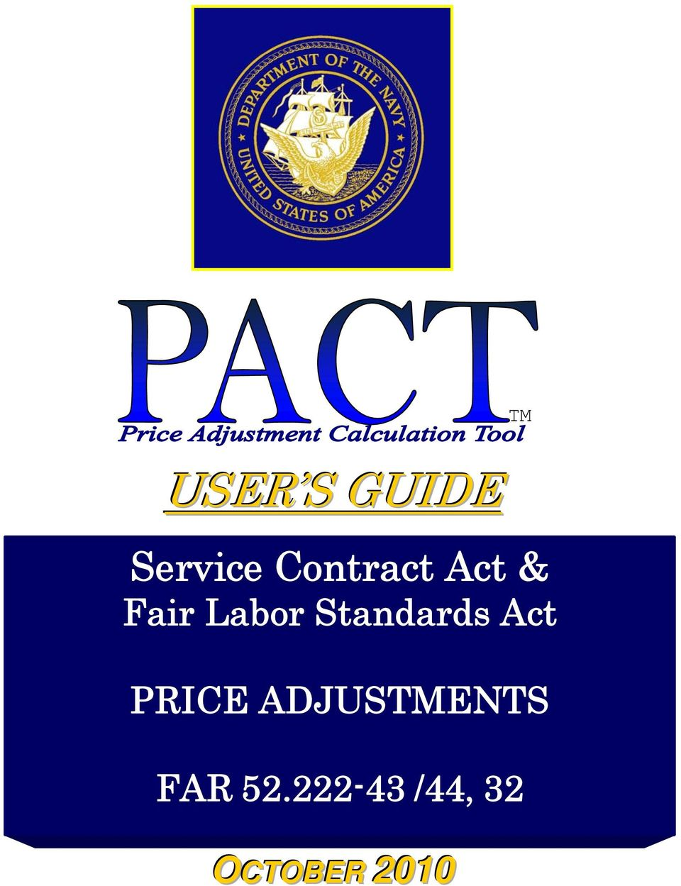 Standards Act PRICE ADJUSTMENTS