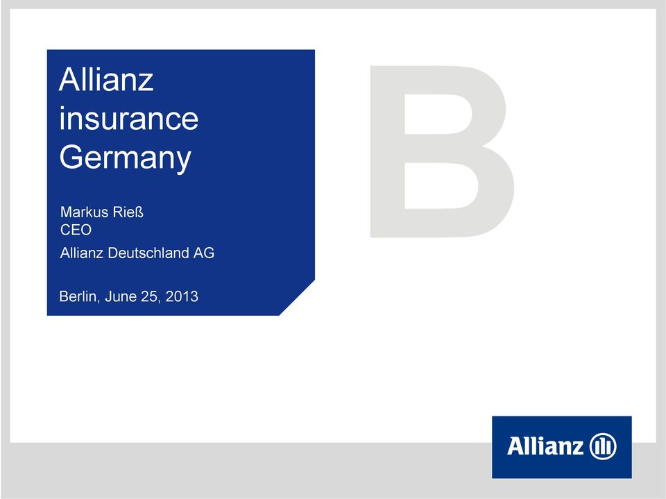 CEO Allianz