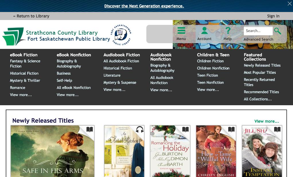 You can add other libraries to this app if you are a member of any other libraries that offer downloadable ebooks. 3.