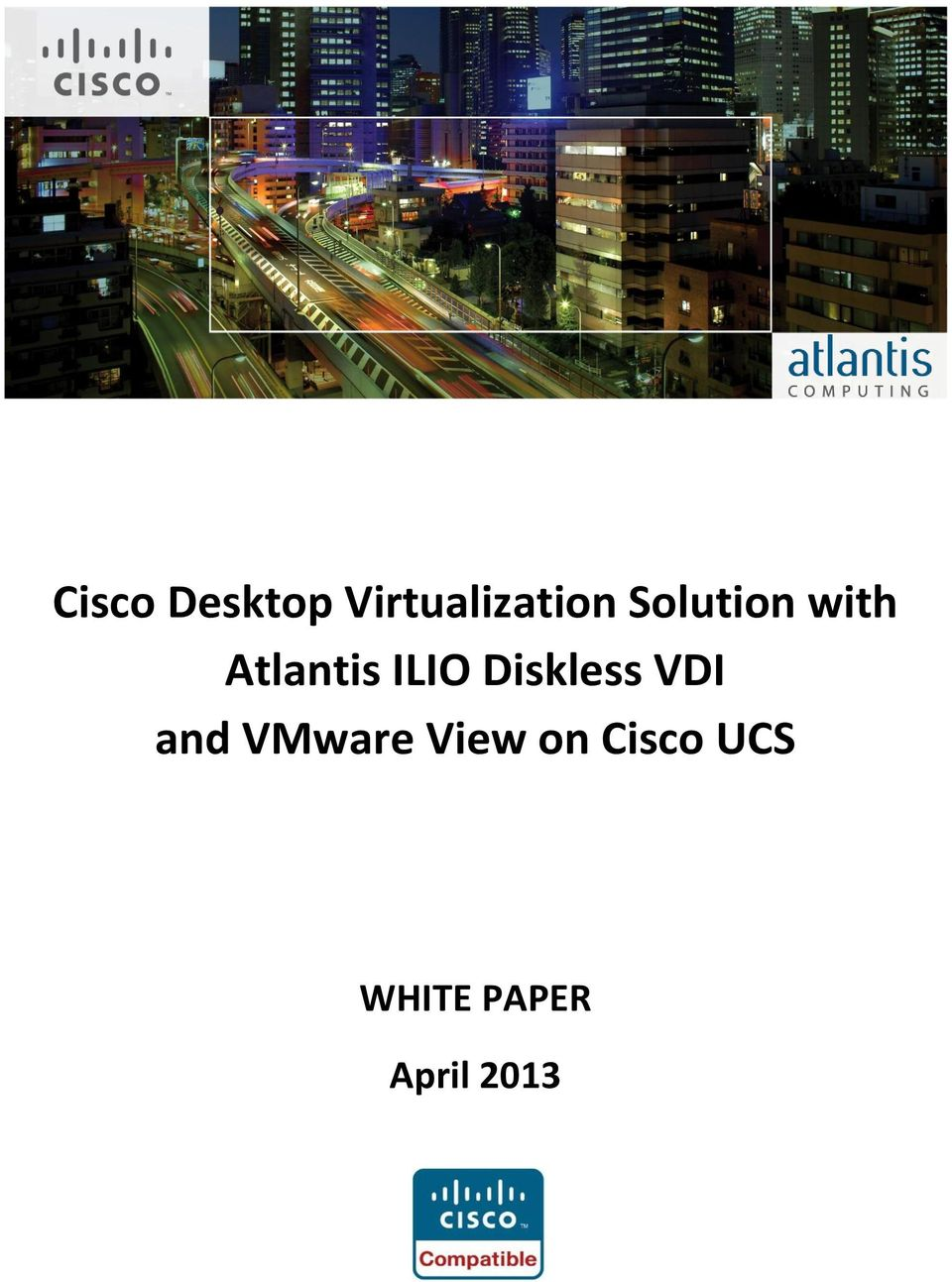 Diskless VDI and VMware View