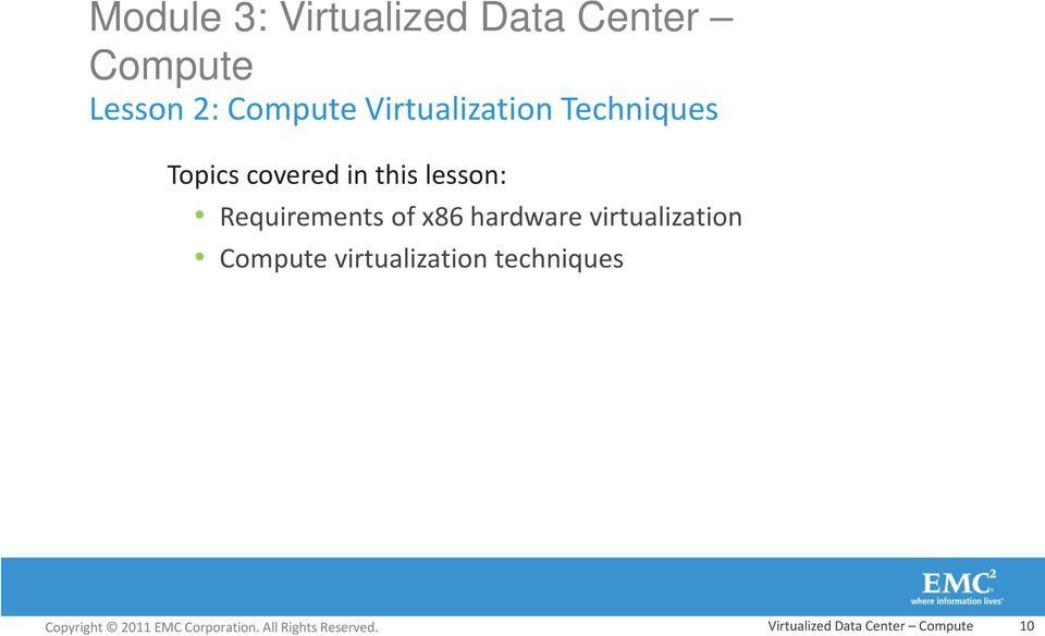 lesson: Requirements of x86 hardware virtualization