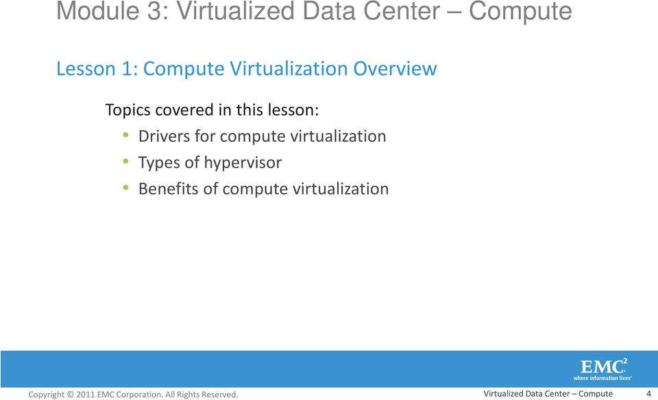 Drivers for compute virtualization Types of hypervisor