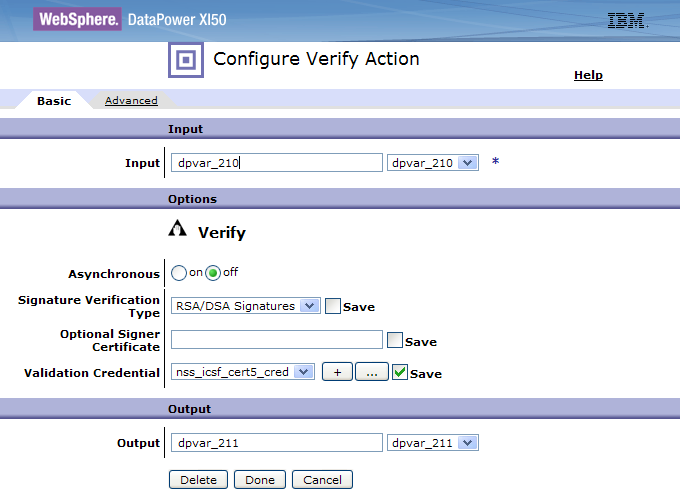 Verify action 11 DataPower z/os crypto integration This is a sample configuration in the