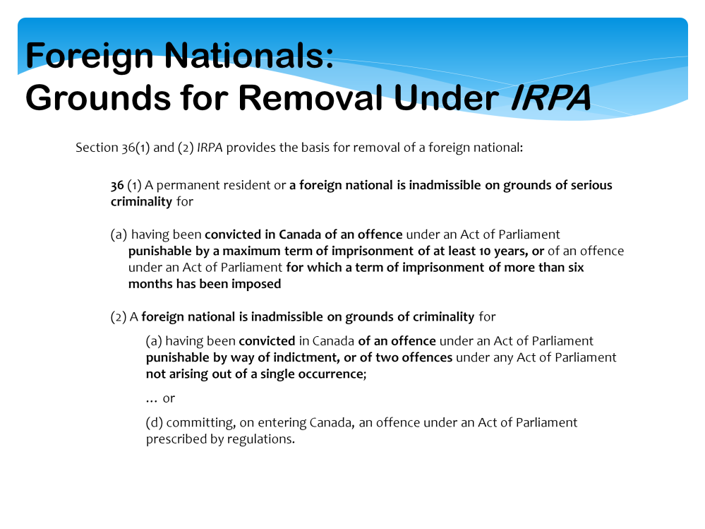 A foreign national means a person who is not a Canadian citizen or a permanent resident and includes a stateless person: (s.2(1) of IRPA).