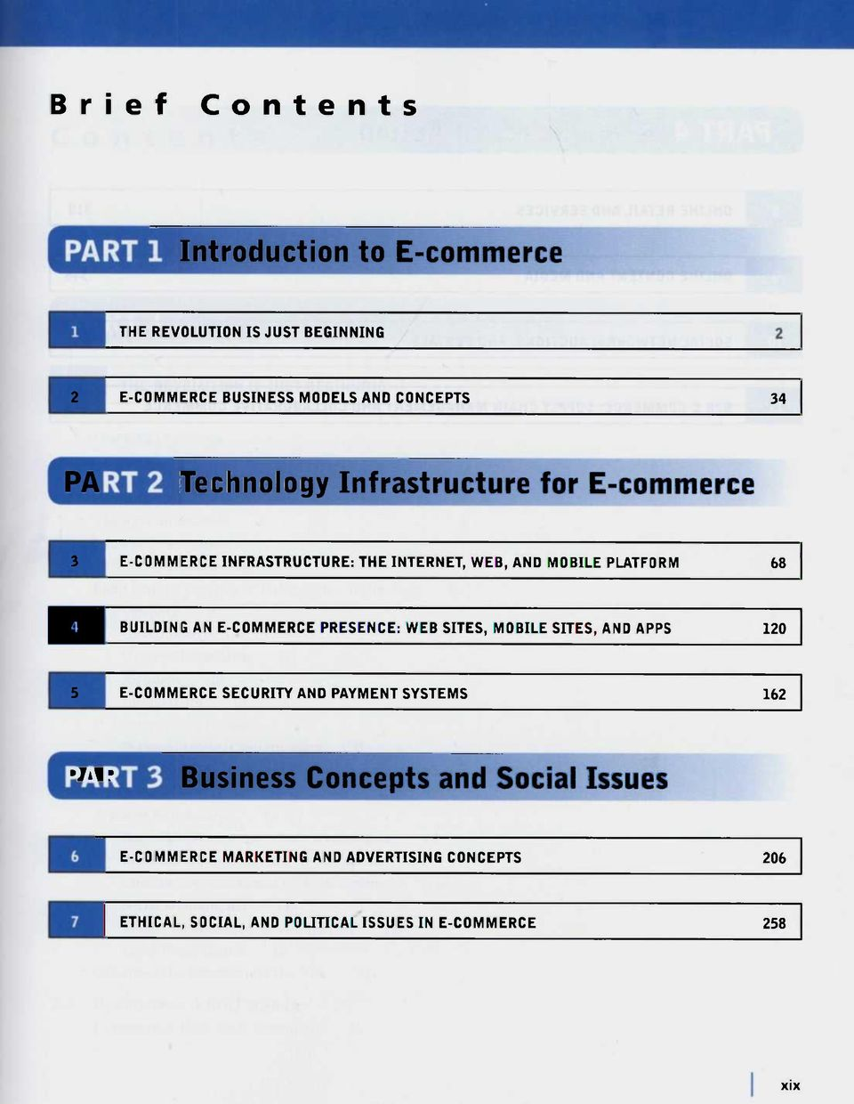 E-COMMERCE PRESENCE: WEB SITES, MOBILE SITES, AND APPS 120 5 E-COMMERCE SECURITY AND PAYMENT SYSTEMS 162 Jilr Business