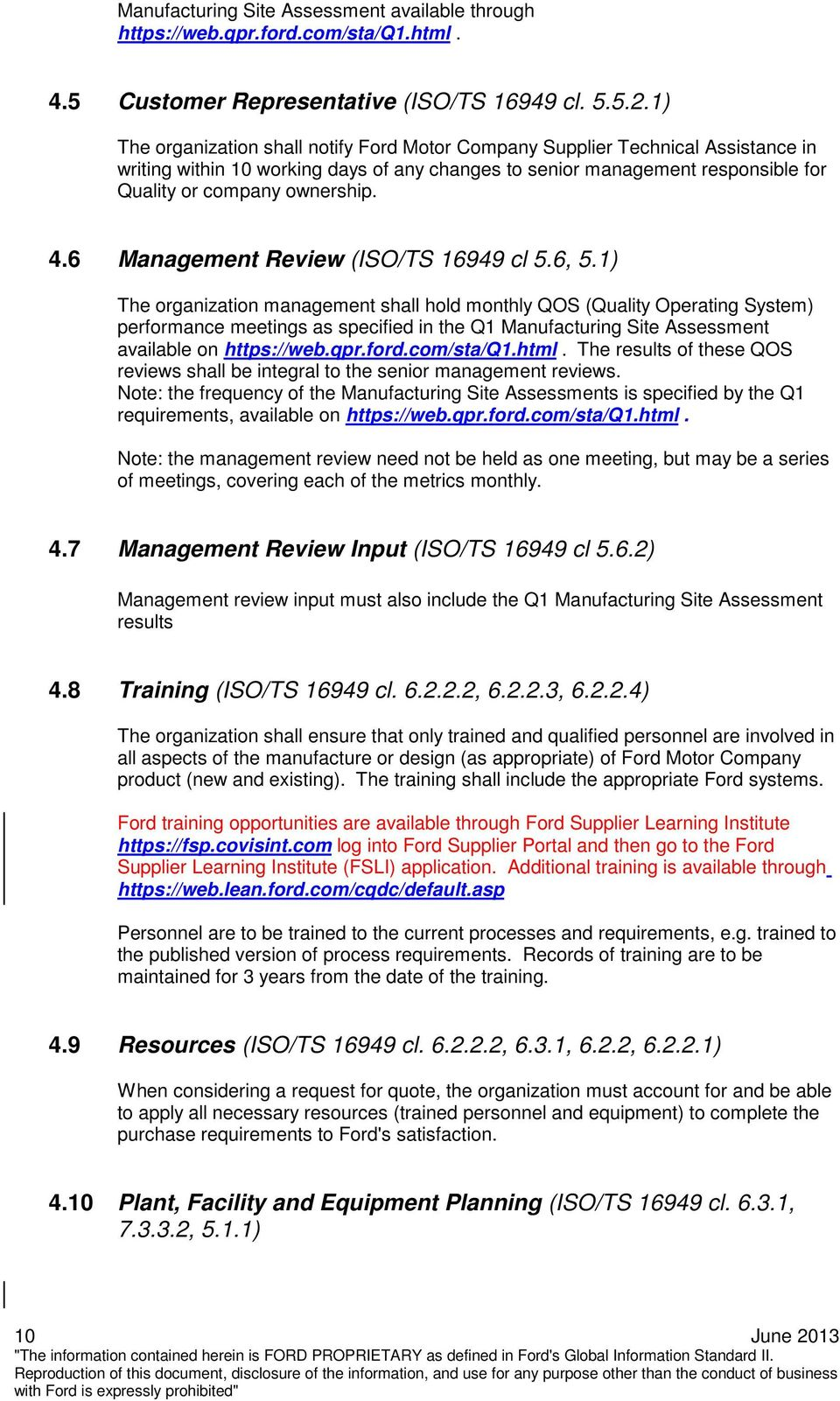 6 Management Review (ISO/TS 16949 cl 5.6, 5.