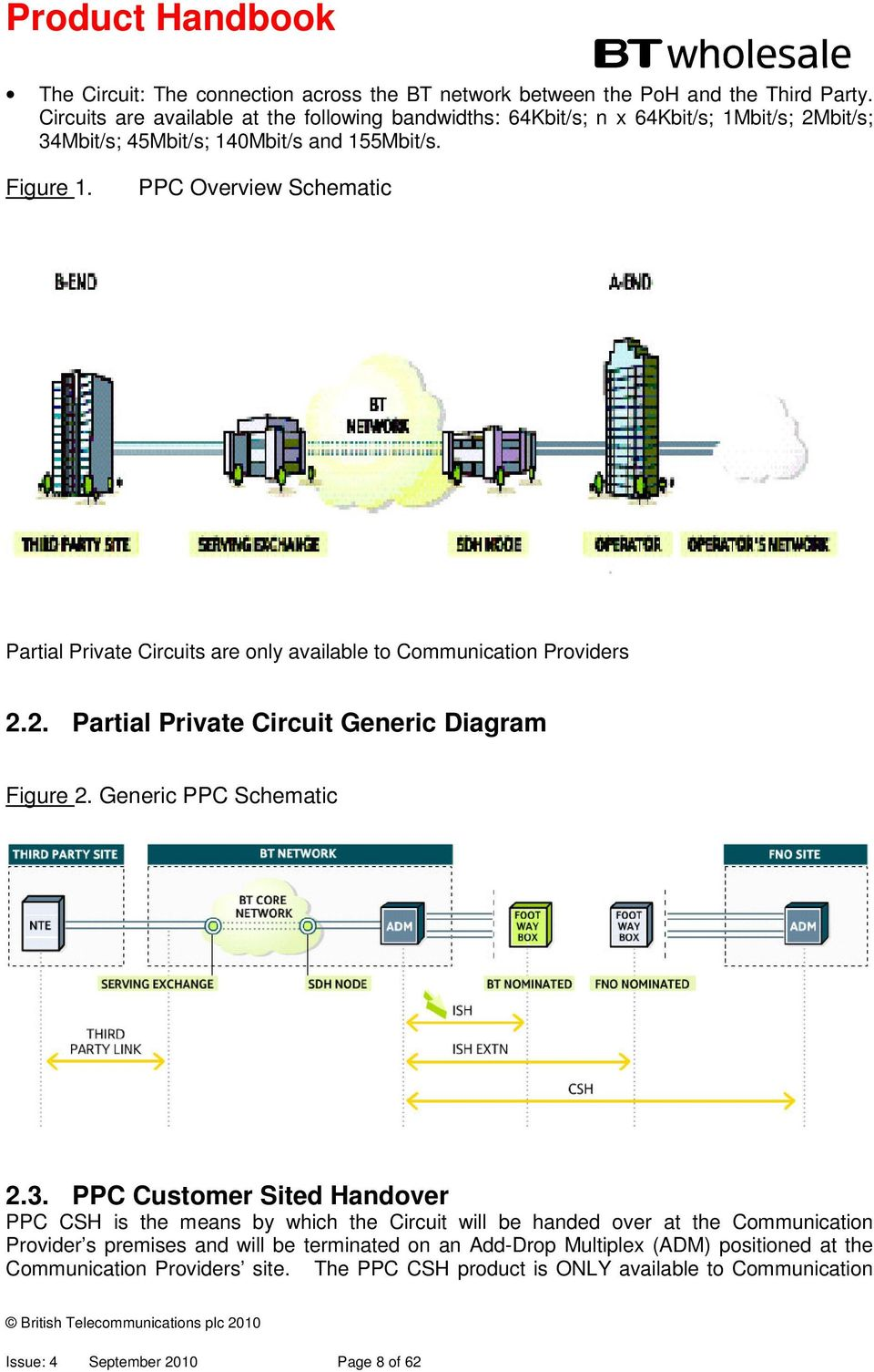PPC Overview Schematic Partial Private Circuits are only available to Communication Providers 2.2. Partial Private Circuit Generic Diagram Figure 2. Generic PPC Schematic 2.3.