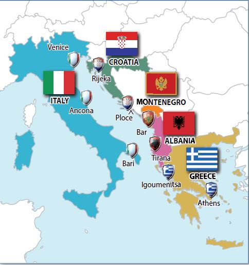5 INTERMODADRIA: PROJECT PARTNERS AND BUDGET from October 2012 to July 2015 Marche Region Lead Partner (IT)