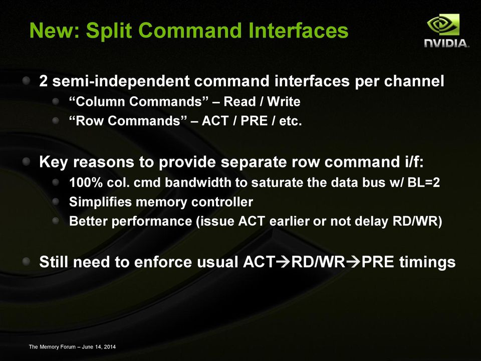 Key reasons to provide separate row command i/f: 100% col.