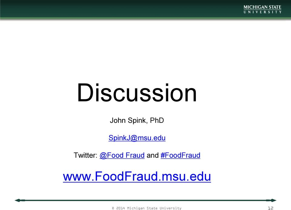 edu Twitter: @Food Fraud and