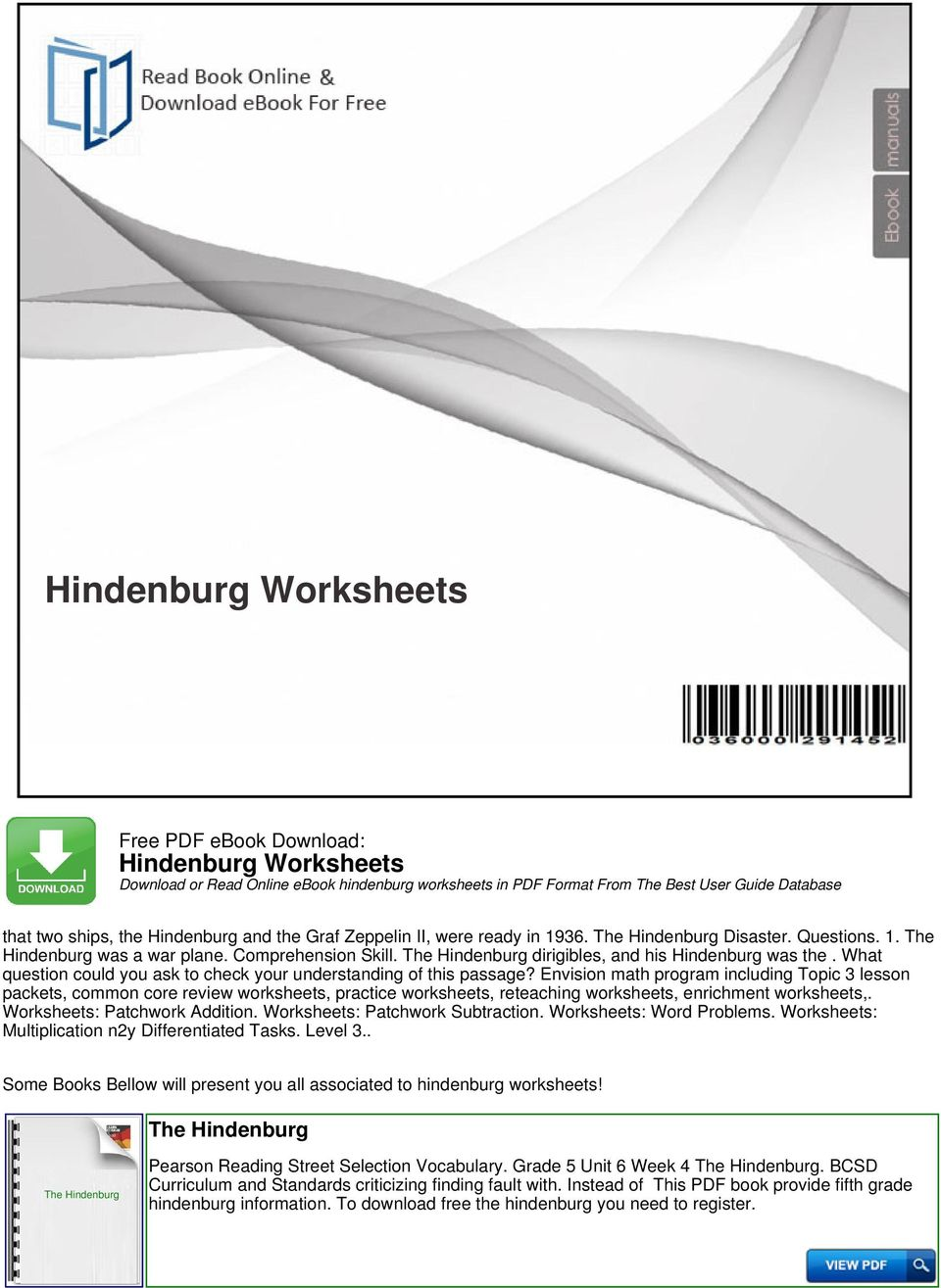 Hindenburg worksheets pdf what question could you ask to check your understanding of this passage fandeluxe Images
