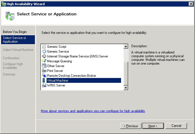 2. In the Actions panel, click Configure a Service or Application... link. 3.