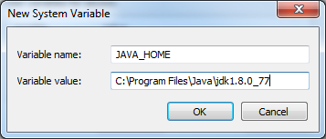 12. For Variable value you will need to find the Java JDK folder path. This is typically in the Programs or Applications folder. See the example below.