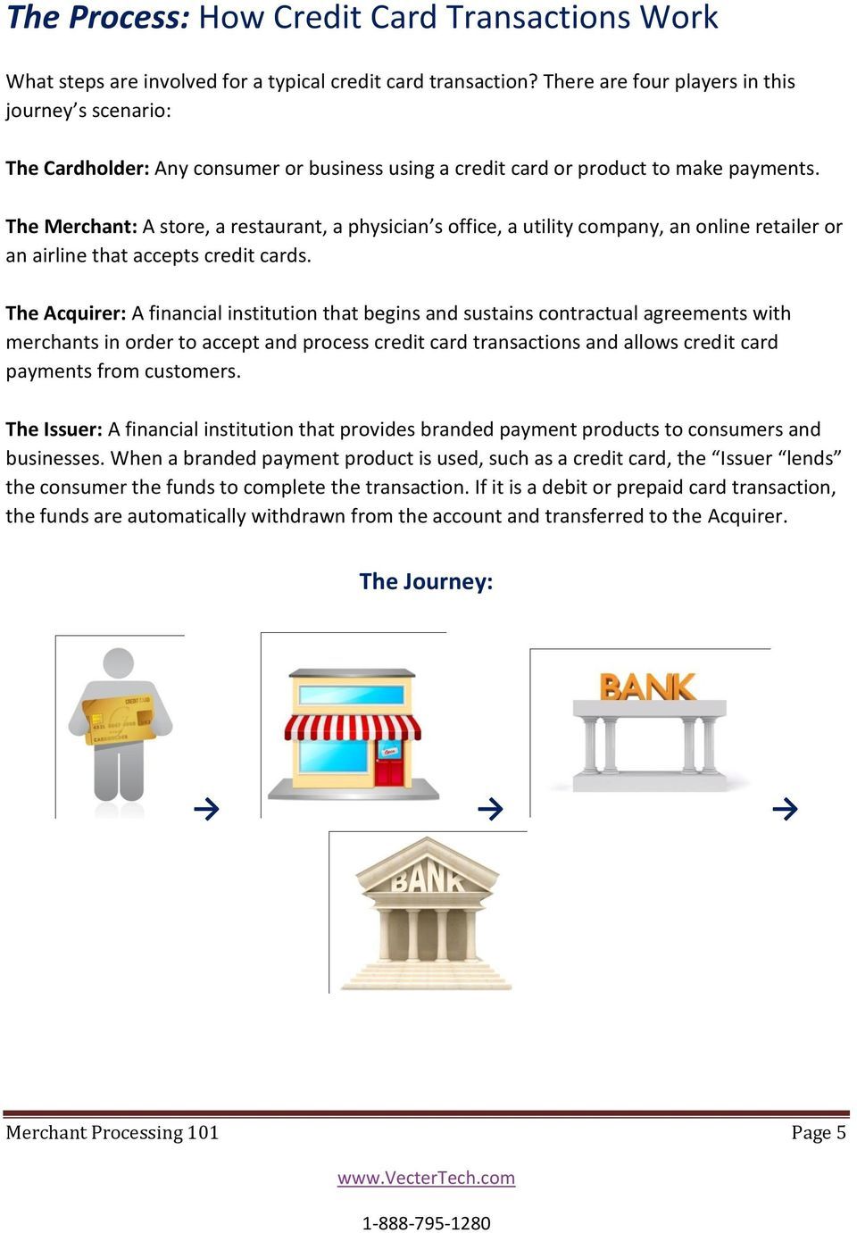 The Merchant: A store, a restaurant, a physician s office, a utility company, an online retailer or an airline that accepts credit cards.