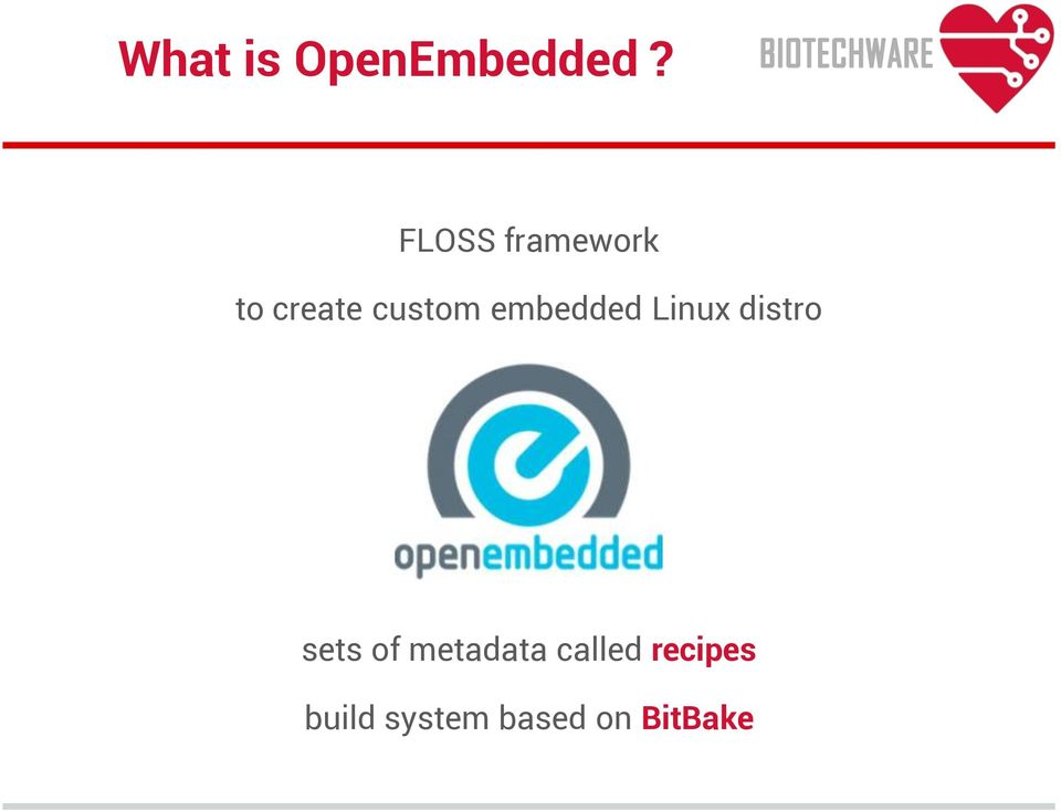 embedded Linux distro sets of