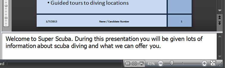 Type in the presenter notes accurately: 3. Repeat for the other slides.