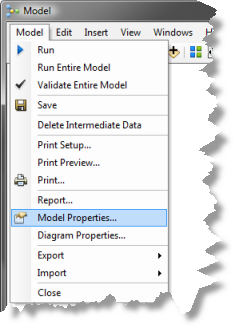 Creating a new model You'll create a new model and name it TemperatureDifference. 1. Right-click the NetCDF toolbox and click New > Model. 2. On the model's Main menu, click Model > Model Properties.