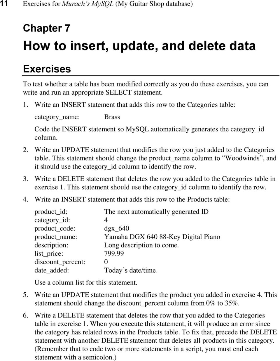 How to use mysql workbench and other development tools pdf for Design table not updating