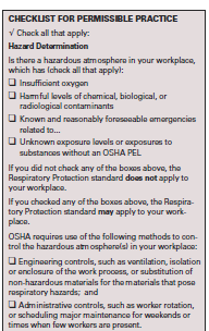 When should a respirator be worn?