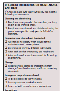 How should a respirator be cleaned and