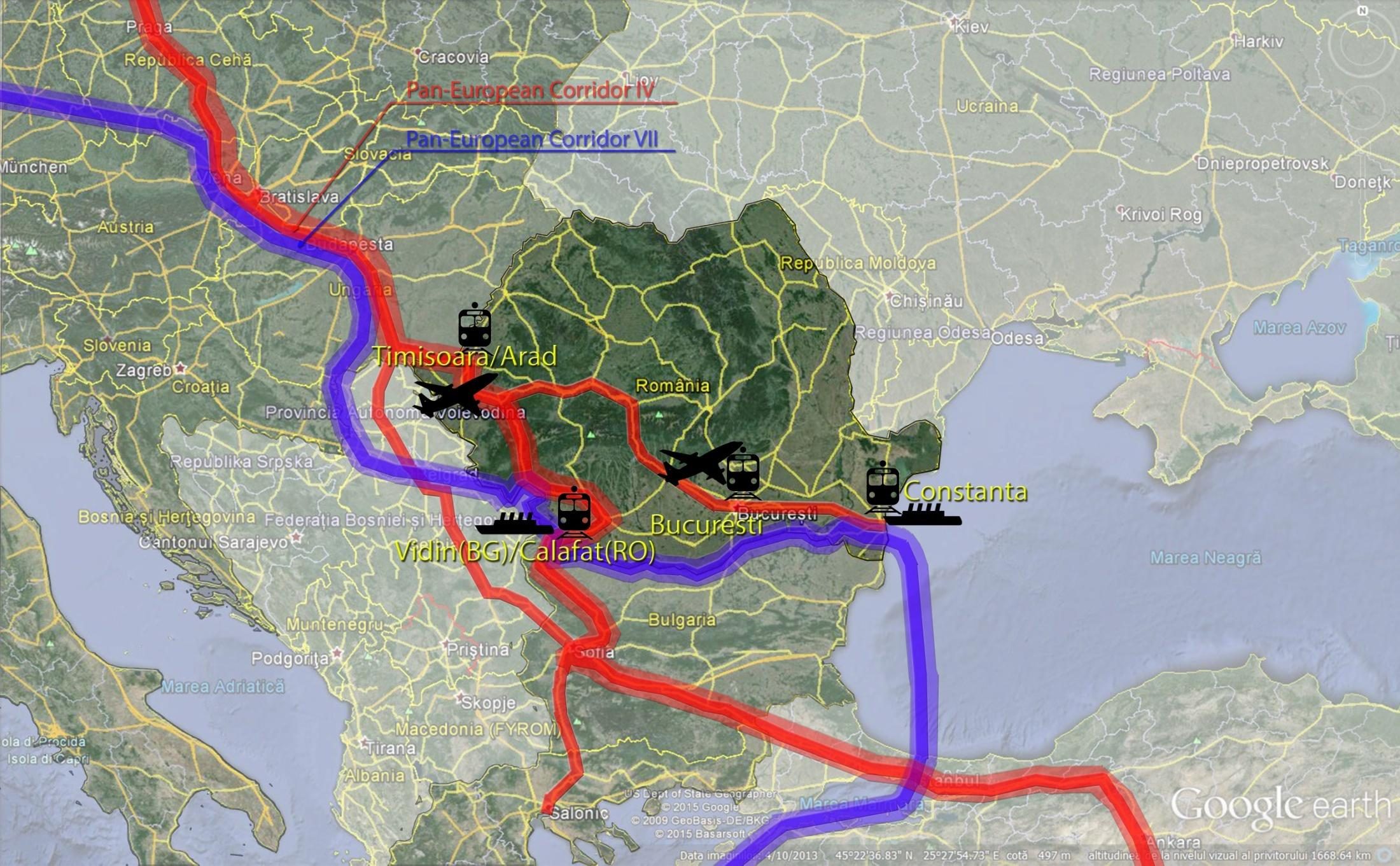 ROMANIAN SECTION On the Modern Silk Road, Romania would offer: Constanta Maritime Harbor and Calafat Fluvial Harbor, along the 7-th PanEuropean