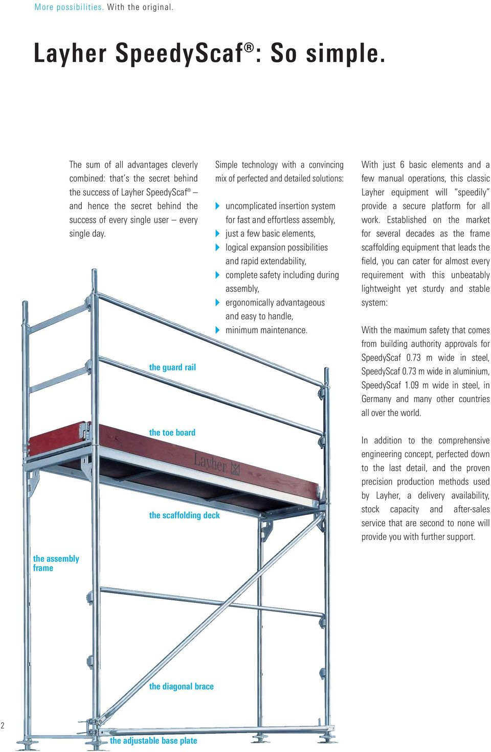 the guard rail Simple technology with a convincing mix of perfected and detailed solutions: uncomplicated insertion system for fast and effortless assembly, just a few basic elements, logical