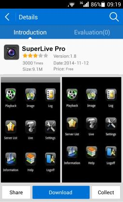 3 By Phones with Android OS 3.1 Installation Instruction 1 2 Run Play Store (or Google market) program. Search SuperLivePro.