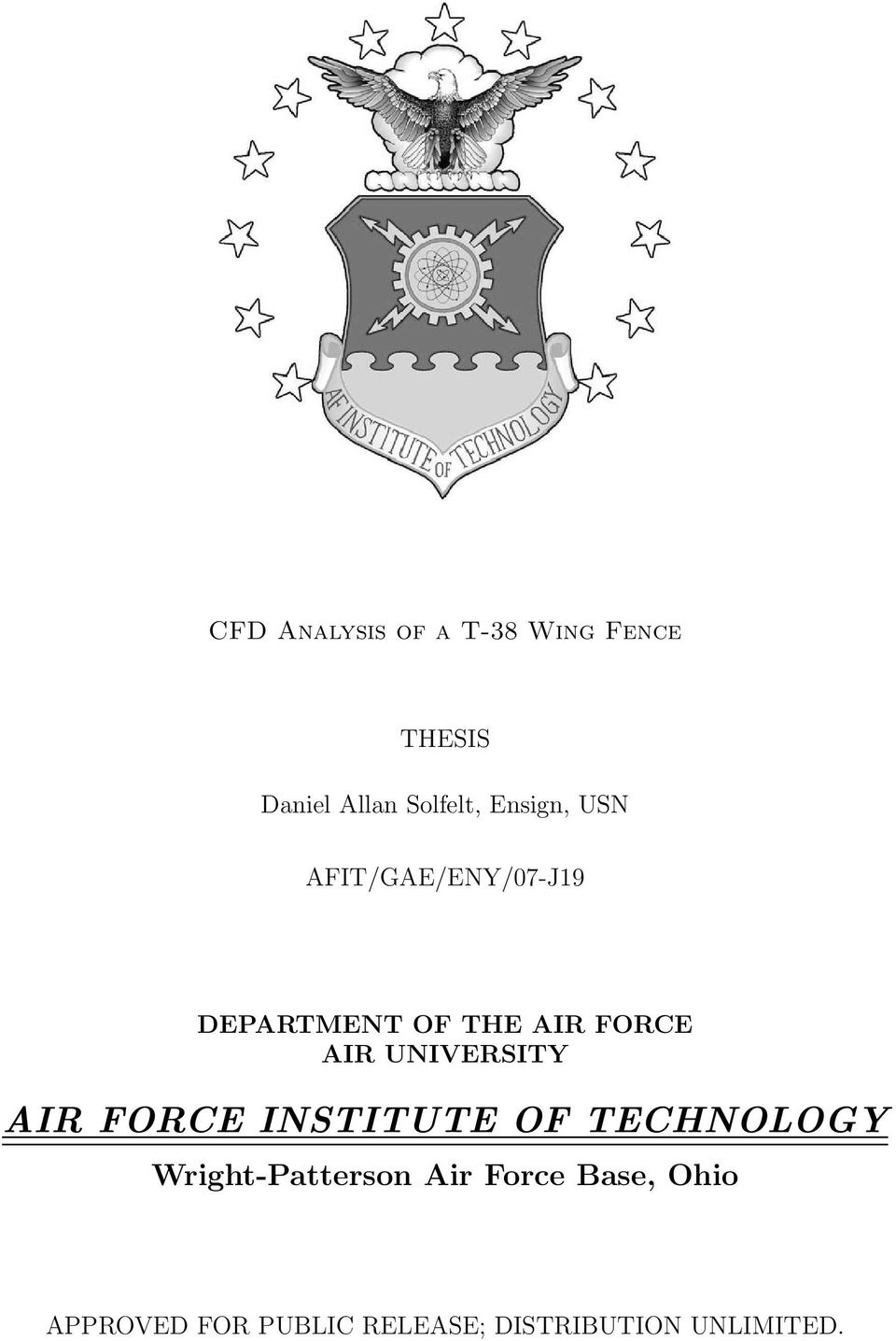 UNIVERSITY AIR FORCE INSTITUTE OF TECHNOLOGY Wright-Patterson Air